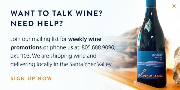 Want To Talk Wine?